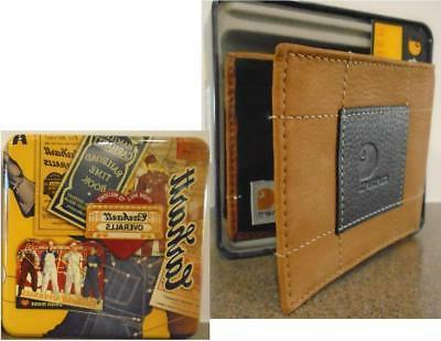CARHARTT PASSCASE WALLET Full BROWN Leather Patch NEW