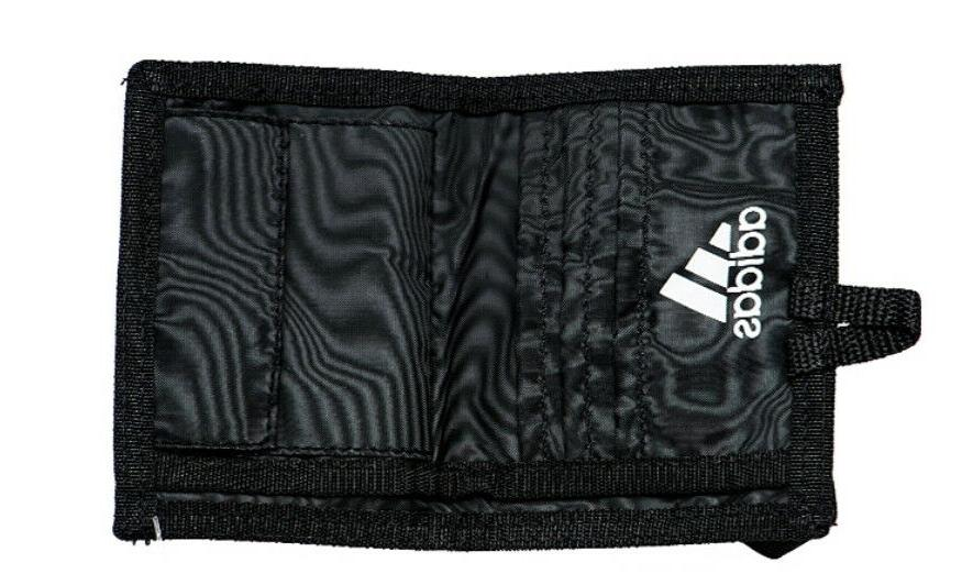 Adidas Black Credit Card Case Zipper Coin S99979