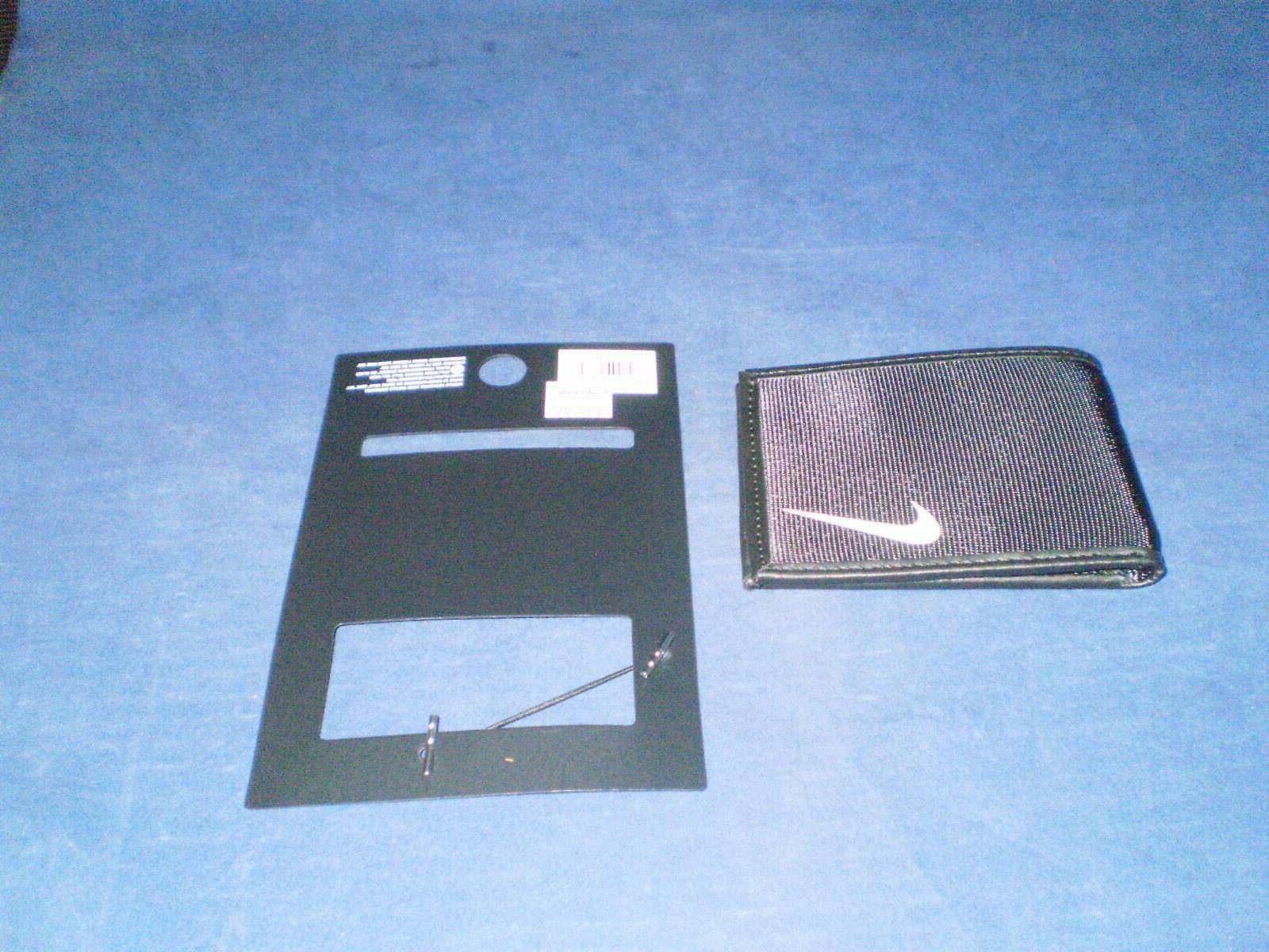 black bifold slim wallet white swoosh