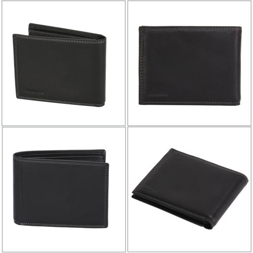 Banuce Soft Grains Leather Bifold Wallet ID