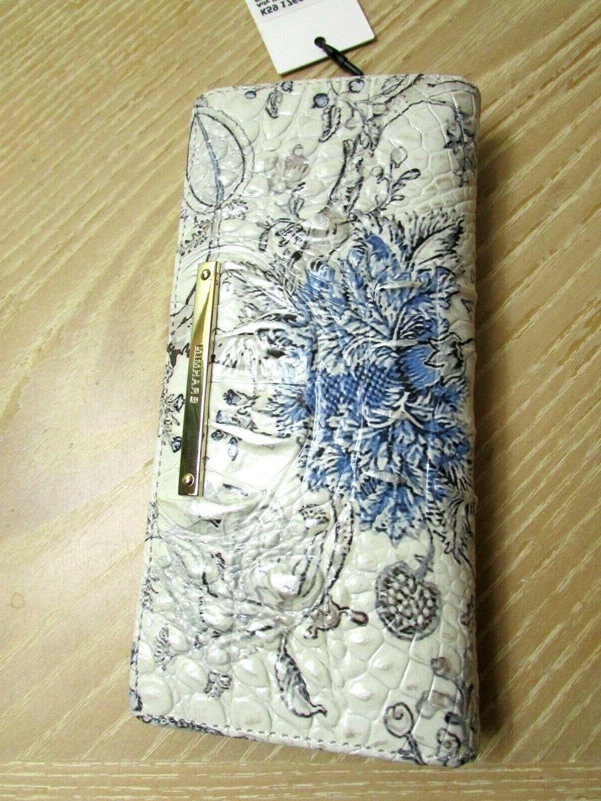 TOILE FLORAL PRINT LEATHER WALLET NEW