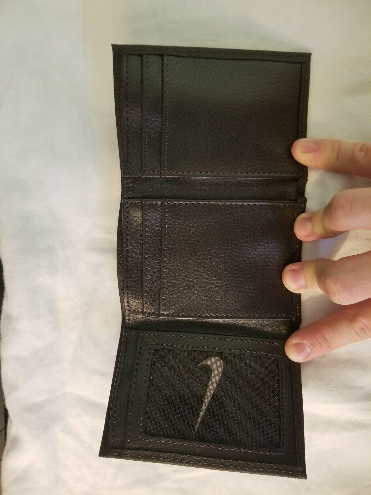 Nike brand Brown Trifold Leather Wallet