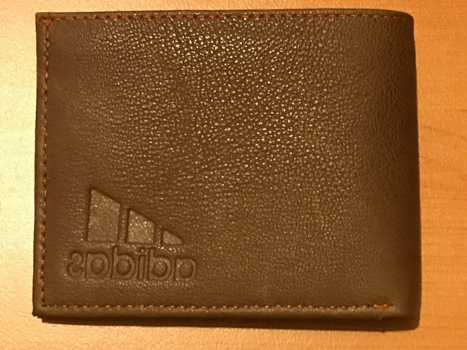 brand new genuine leather mens wallet brown