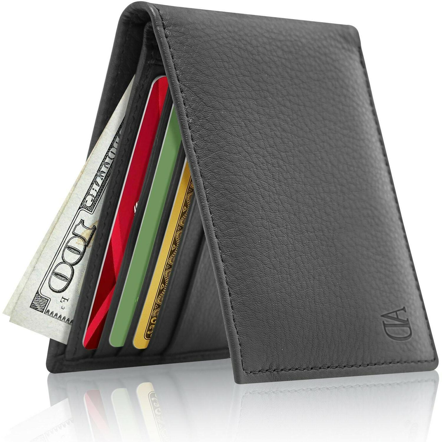 brand new leather slim wallet for men