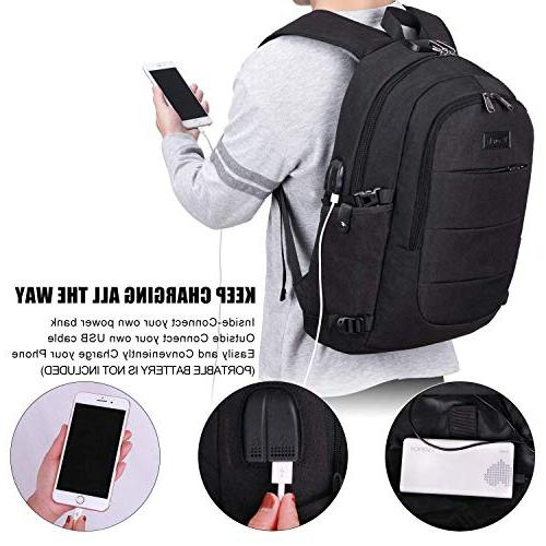 Tzowla Water Resistant Anti-Theft Backpack USB Port and Inch Backpacks Women Casual Travel Daypack
