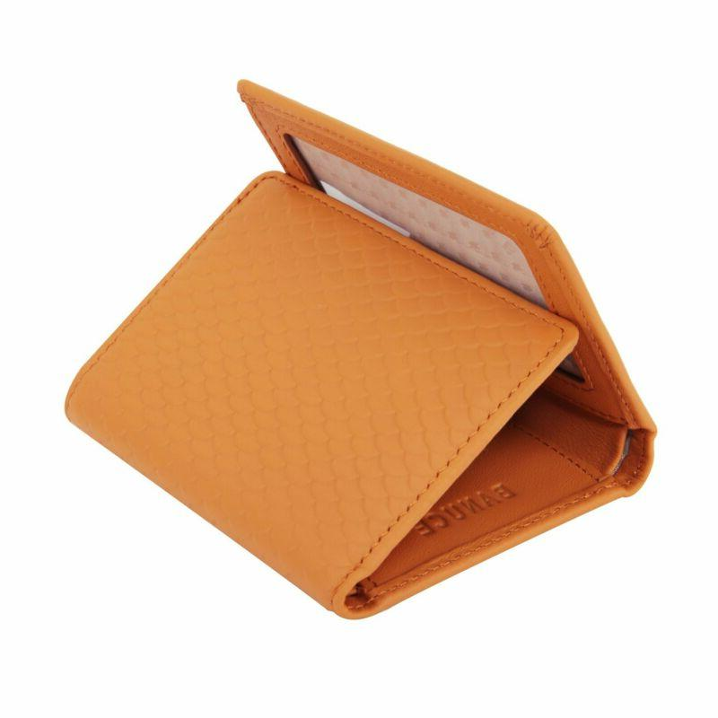 colored top grain leather trifold wallet