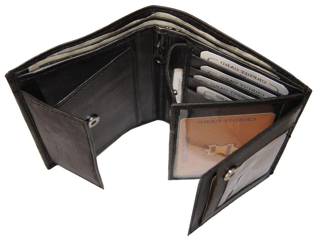 AG Leather Trifold Card ID Black