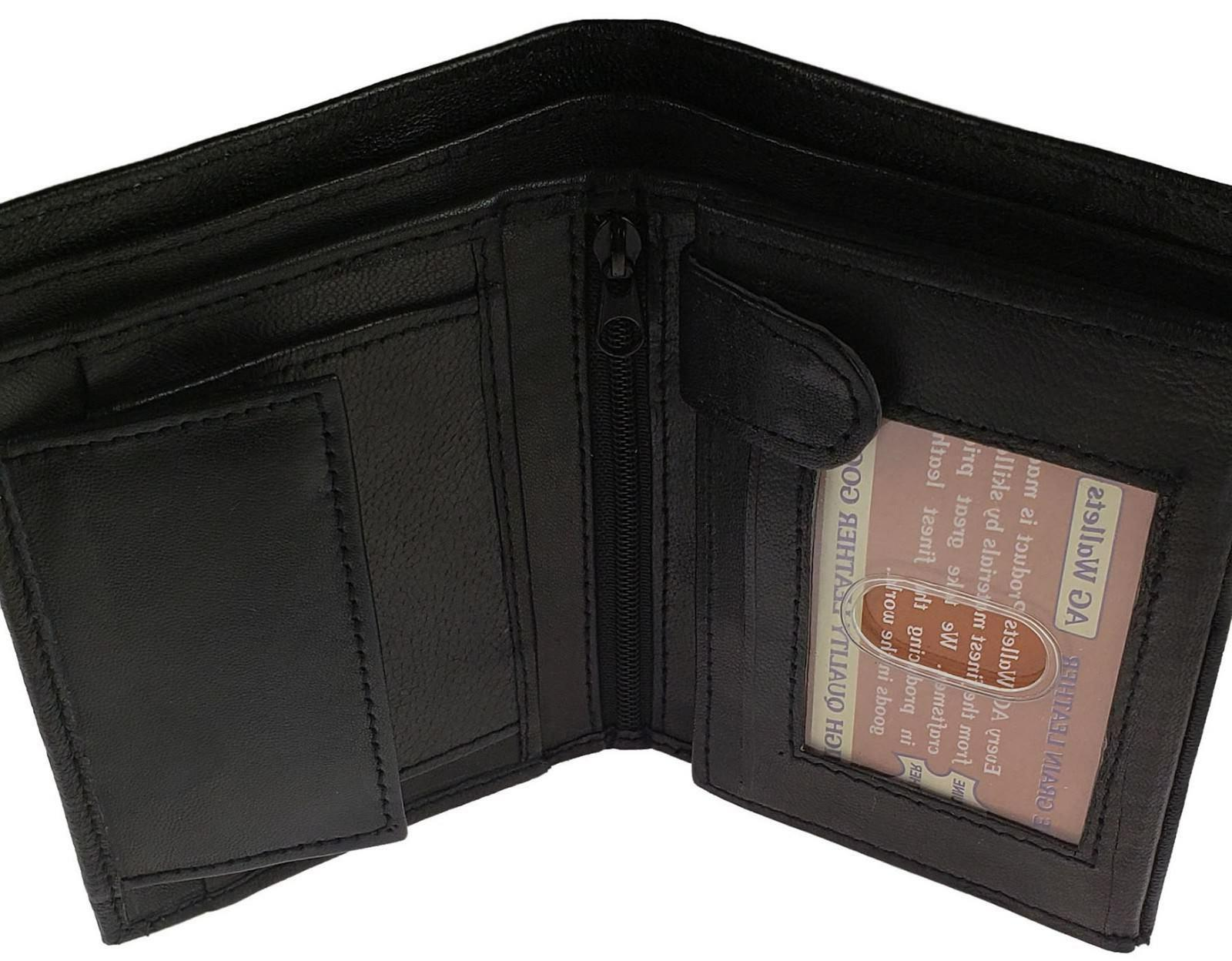 AG Trifold Wallet Card ID Black