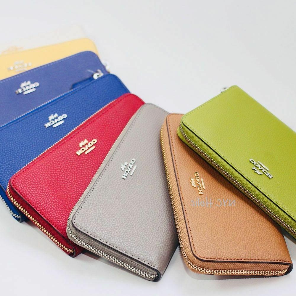 f16612 accordion zip wallet in polished pebble