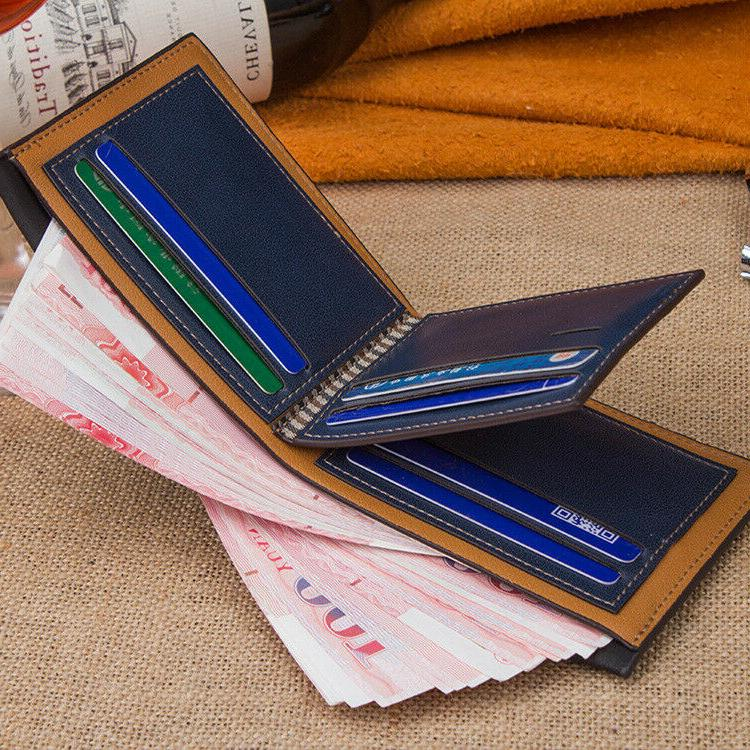 Fashion Leather Wallet Money Clip Bifold Trifold