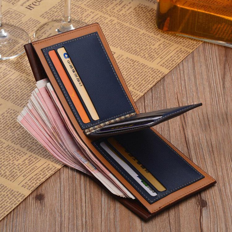 Fashion Mens Leather Wallet Money Bifold Front Wallets