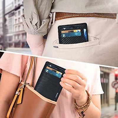 Mens Front Wallet Leather Minimalist Credit Card