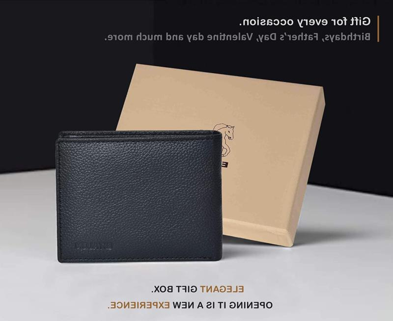 Front Pocket for Men - RFID Leather with ID Window