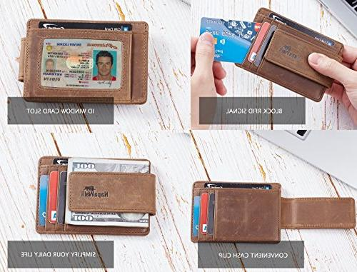 NapaWalli Genuine Front Pocket Money Clip Wallet
