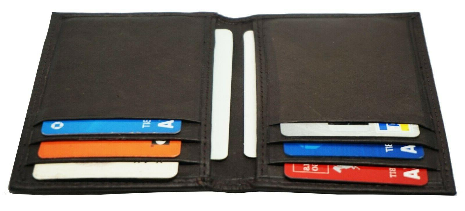 Mens Clip Slim Magnetic Brown Credit Holder