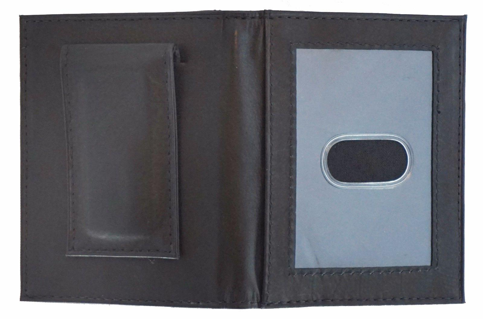 Mens Clip Brown ID Holder