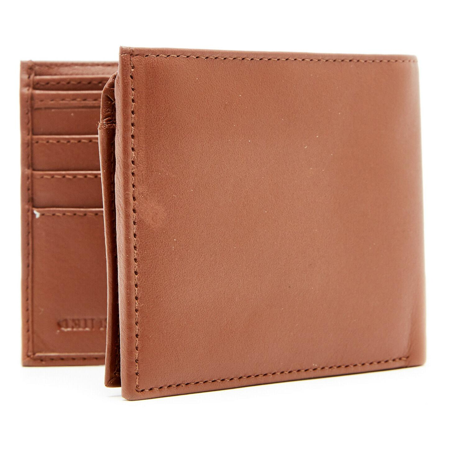 genuine leather wallets for men bifold mens