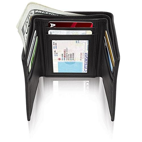 Genuine Wallets Men Trifold Mens Wallet ID RFID