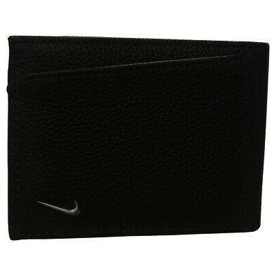 golf men s leather passcase wallet black