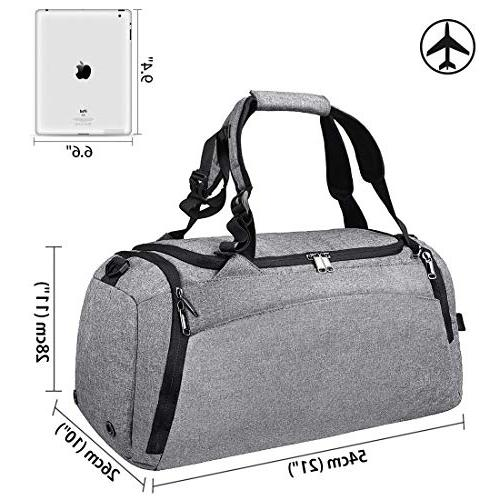 Gym Bag Travel Weekender Bag for Men Women Duffel Backpack Shoes Compartment Overnight