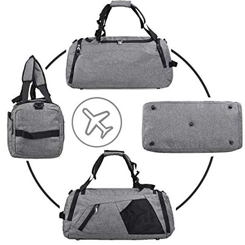Gym Travel Weekender Men Duffel Bag Backpack Shoes Compartment Overnight
