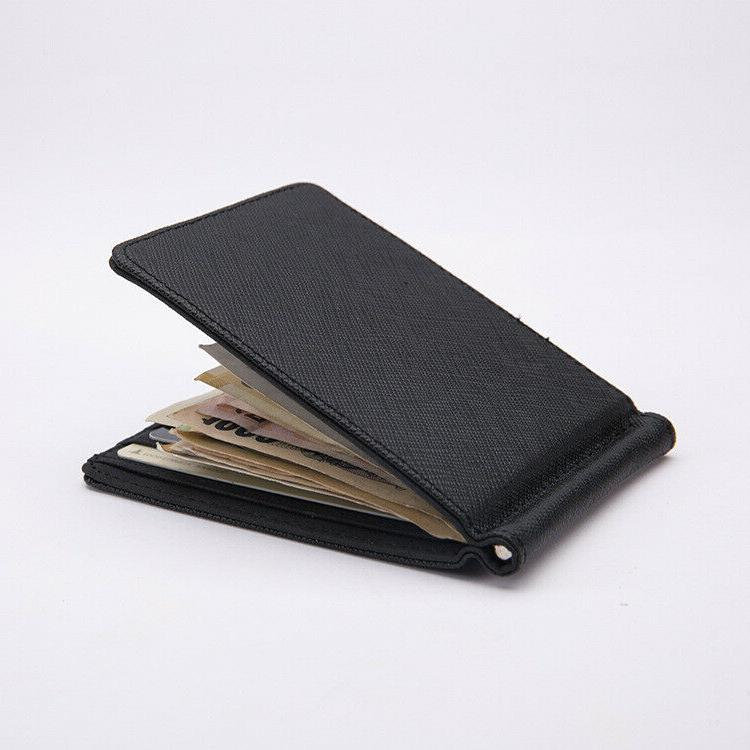 Hot Slim Leather ID Card Wallet with Removable Money Clip