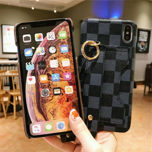 For 11 Max XS X 8 Wrist Strap Wallet Case