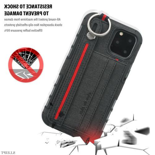 For Pro Max Leather Cloth Buckle Wallet Case