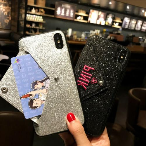 For iPhone Max 8 Card Holder Cover