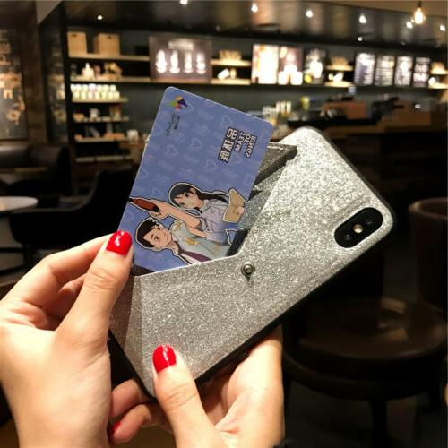 For iPhone Max 8 7 Card Cover Women