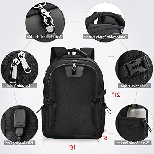 Laptop Backpack Inch Travel Waterproof Backpack Business College Large Capacity Laptop USB Charging for Men