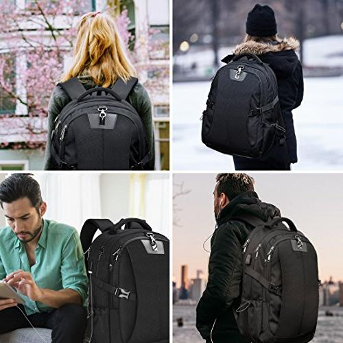 Laptop Inch Travel Backpack Large Capacity Gaming Laptop USB Men Women