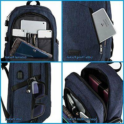 Laptop Notebook Bag With USB Charging Safe Wallet Book