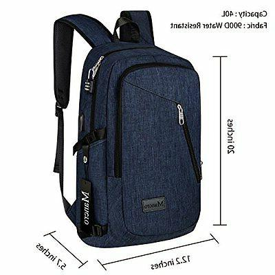 Laptop Notebook Backpack With Safe Book