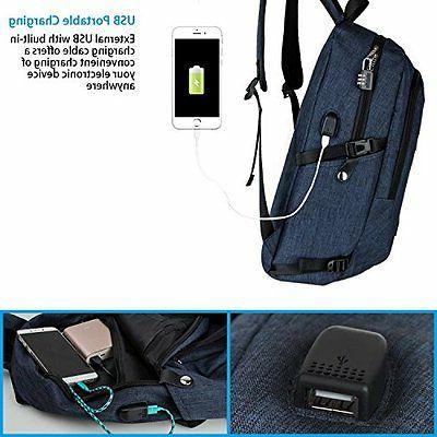 Laptop Notebook Bag Backpack With Safe IPhone