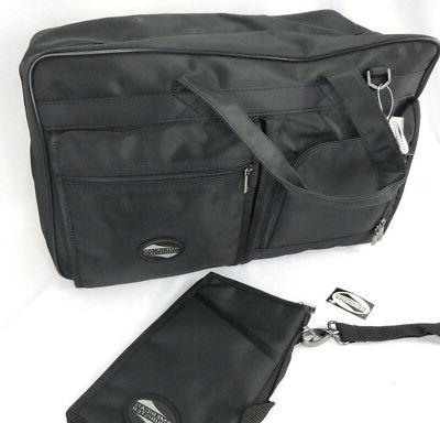 American Tourister Large Travel Bag Black Passport Wallet