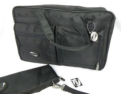 large travel bag black document organizer passport
