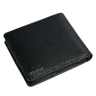 leather bifold wallet for men extra large