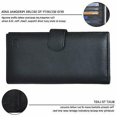 Leather for Men Duplicate RFID Card Sta