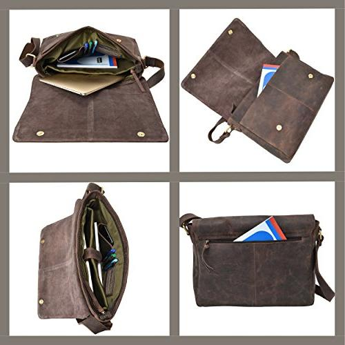 """Leather for Men Office 16"""" MacBook Side"""