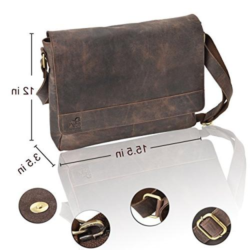 Leather Laptop for Men Office Professional Side Bags