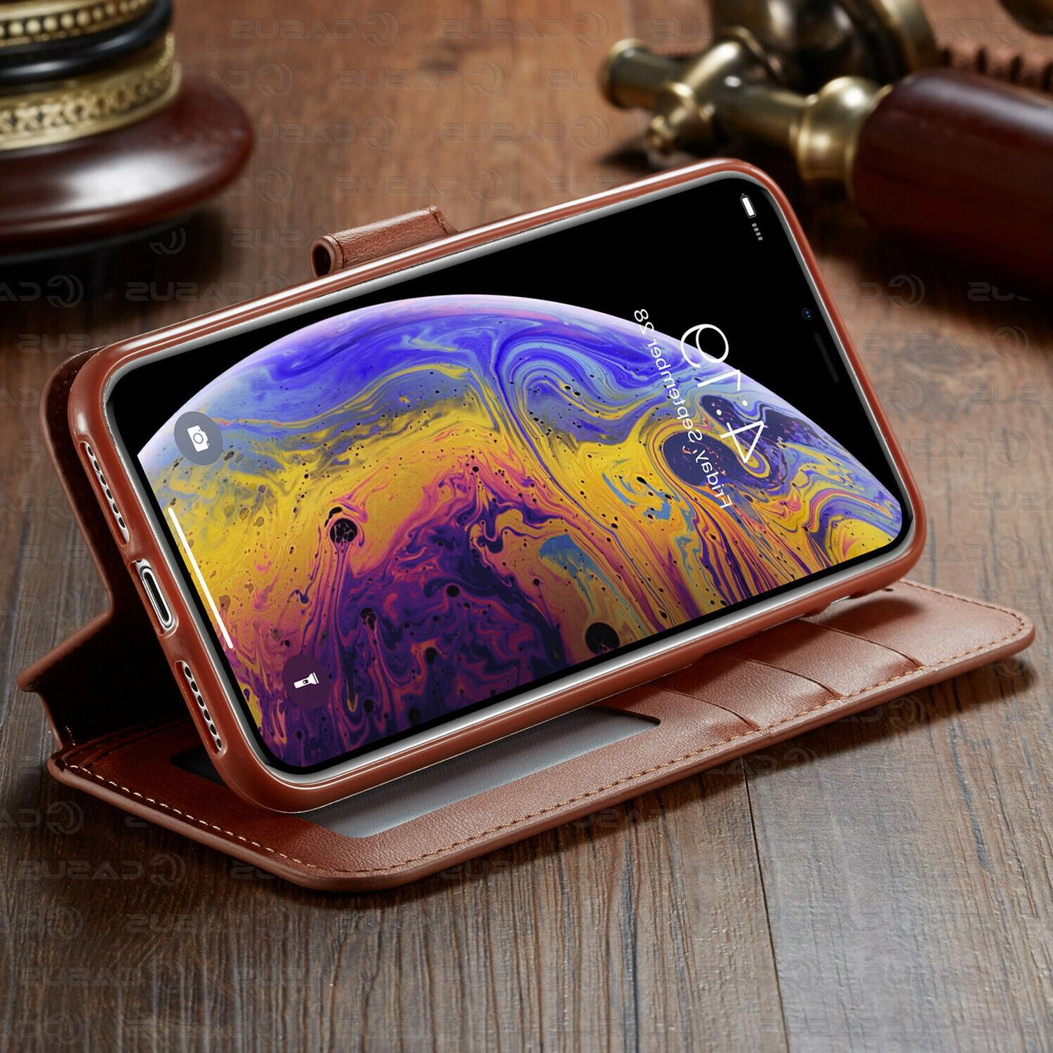 Leather Wallet Holder Cover Case For iPhone 11 MAX XR 8/6