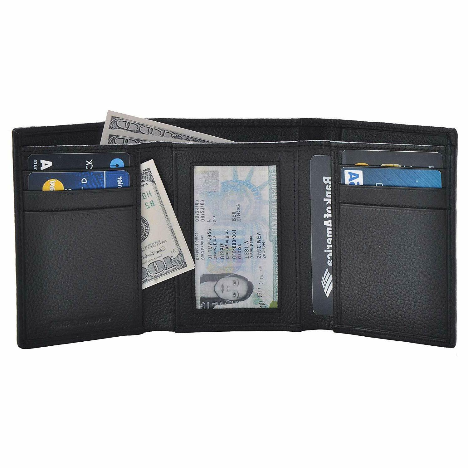 leather wallets for men with rfid blocking