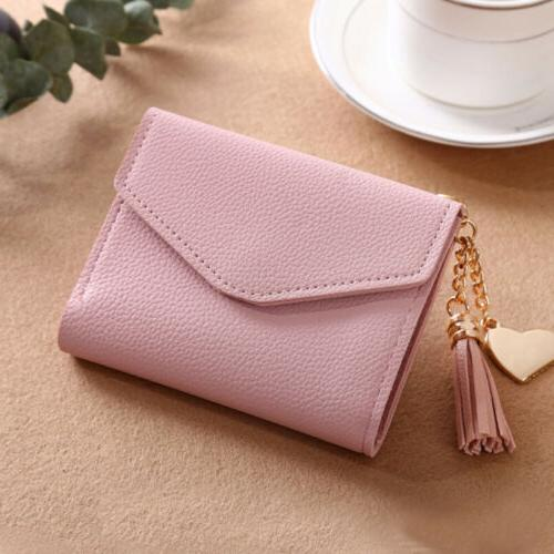 Leather Trifold Solid Cute