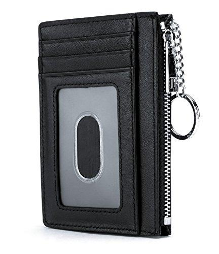 leather zip credit card holder