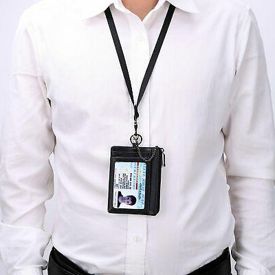 Kinzd Zip Card Holder Keychain Neck QUALITY