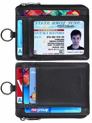 Kinzd Credit Card Holder Wallet Keychain
