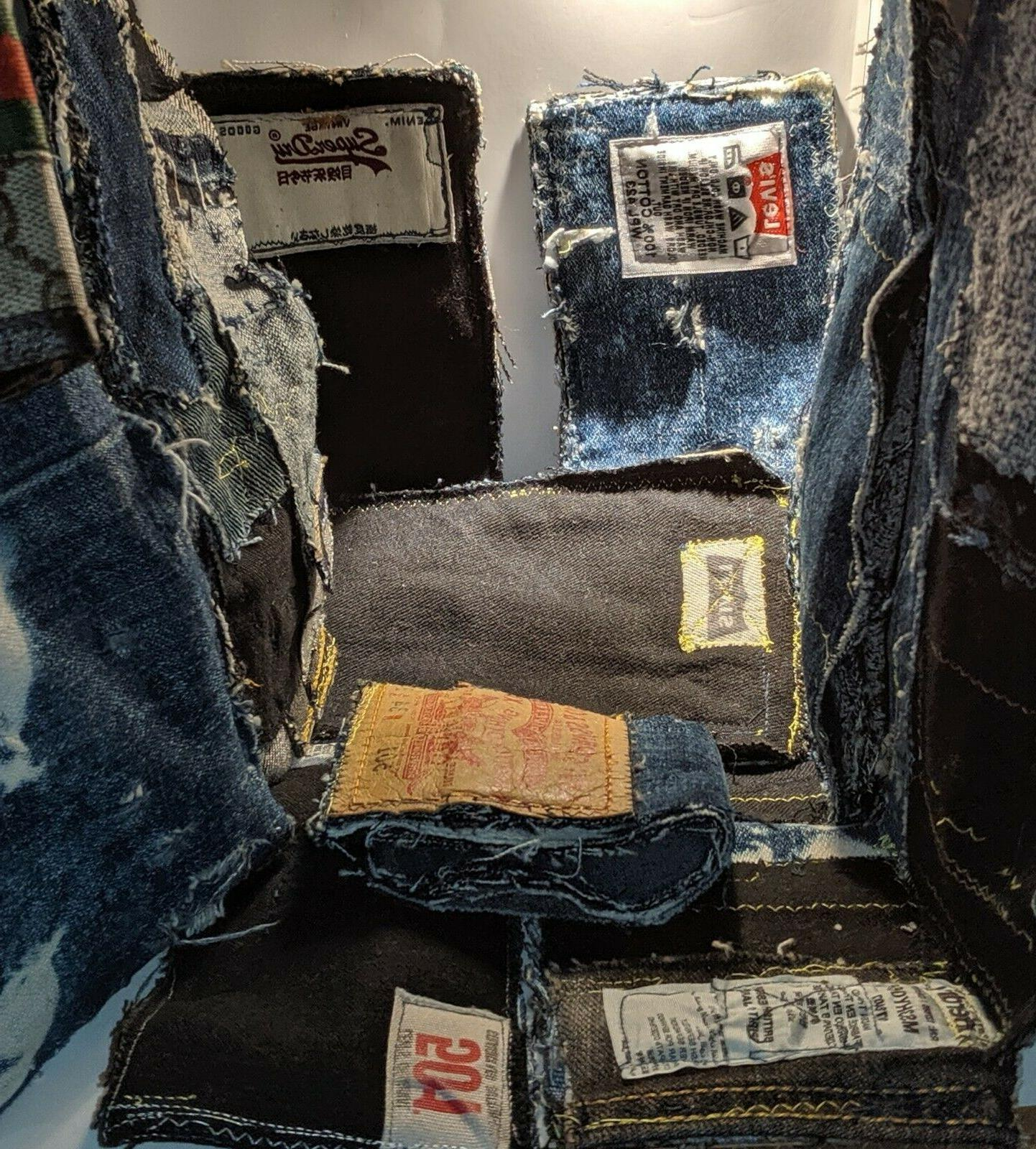 handmade jean wallets made from