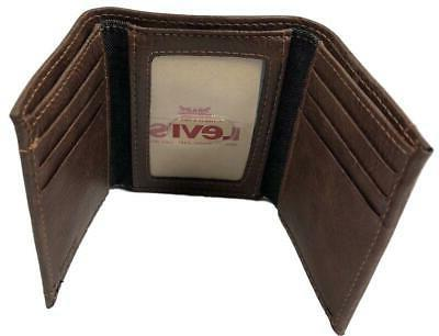 Levi's Blocking Two Horses Logo Trifold Brown
