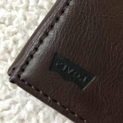 Levi's Men's Leather Rfid Security Blocking Wallet